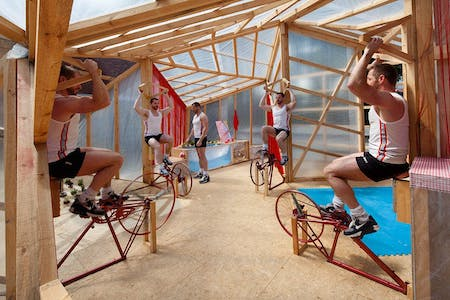 Prototype for off-the-grid house using human-powered energy, by Spanish Architecture firm Elii