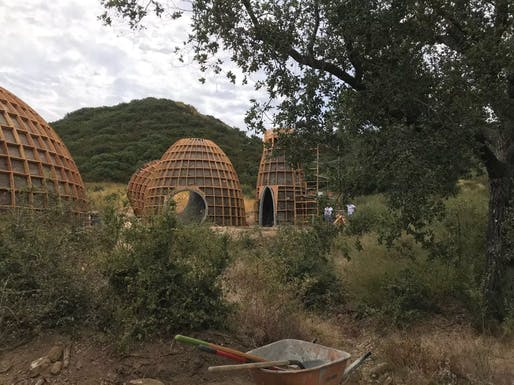 Kanye West's experimental domes have been demolished. Image courtesy of Los Angeles County.