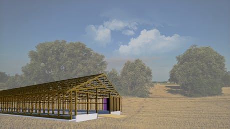 Construction 3D drawing for Chicken Farm