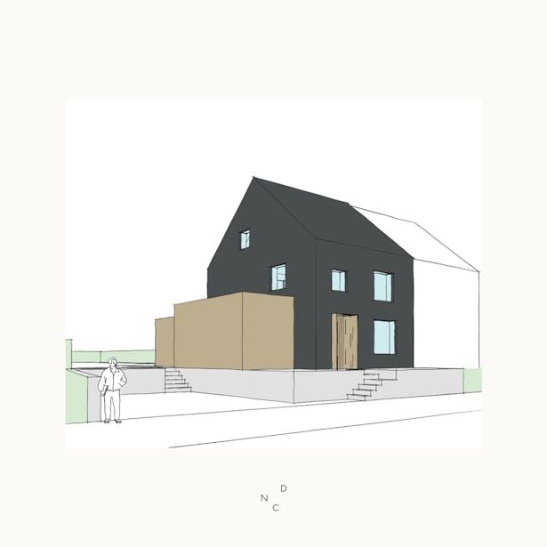 De Nieuwe Context zet de eerste ontwerp-ideeën voor deze renovatie & uitbreiding te Leuven op papier.