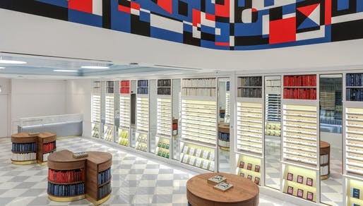 Warby Parker's latest NYC store sells books and, oh well, glasses, too. Image: Sara Essex Bradley, via qz.com.