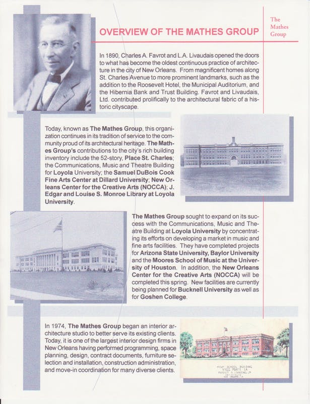 The History of The Mathes Group