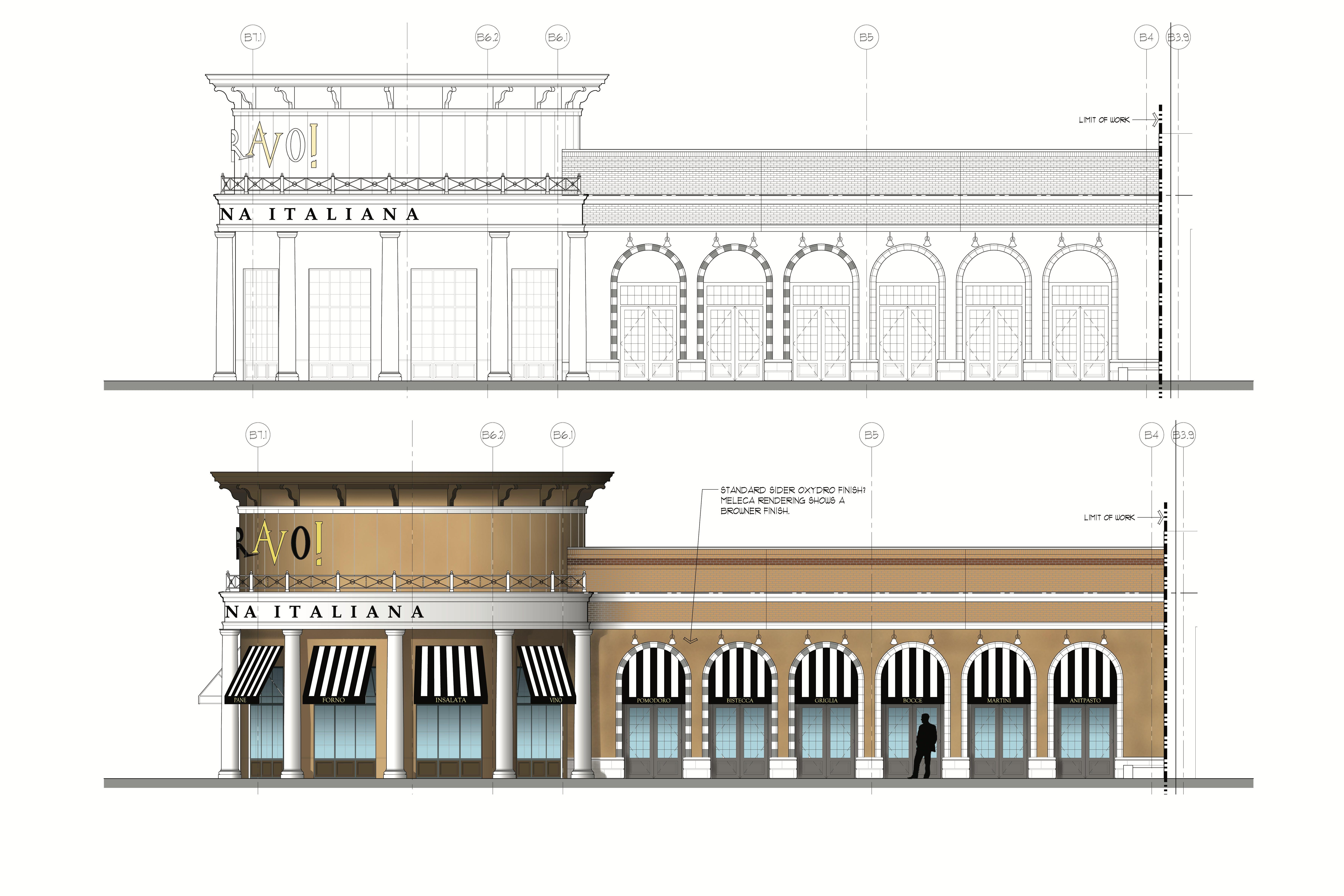 Modern Restaurant Front Elevation : Restaurant build out daniel judy archinect
