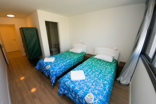 One of the bedrooms in the Olympic and Paralympic Village (Photo: Rio 2016/Alex Ferro)