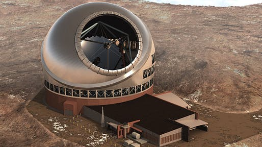 Artist's rendering of the $1.4 billion Thirty Meter Telescope. Courtesy TMT Observatory Corporation.