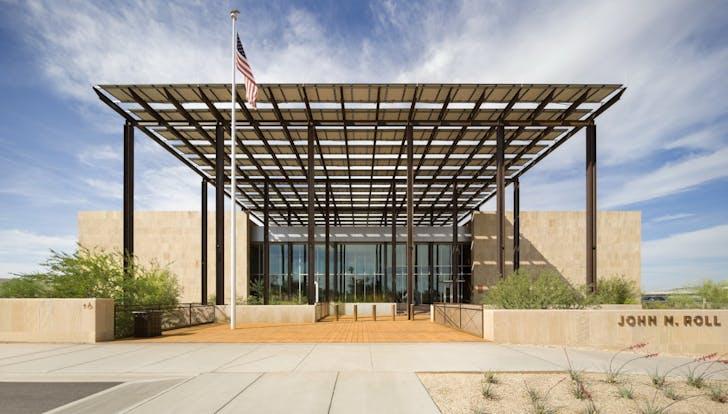 John M. Roll United States Courthouse. Courtesy of EYRC Architects.