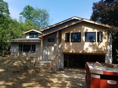 Newuf House Under Construction - Clifford O. Reid Architect