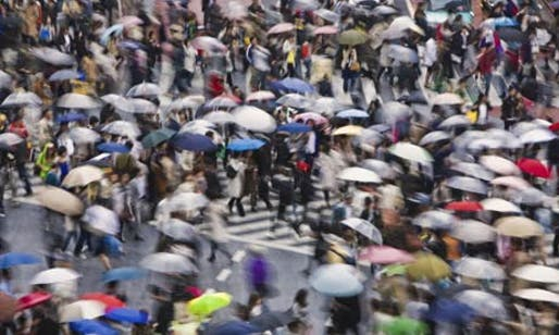 Rush hour in Shibuya, Tokyo, the basis for one of the Relive models. Photograph: Rudy Sulgan/Corbis