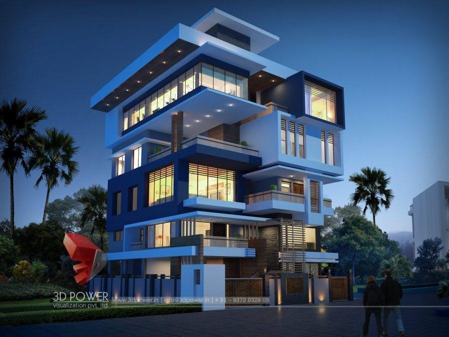 Lavish 3D Modern Bungalow Exterior Rendering And Elevation Design