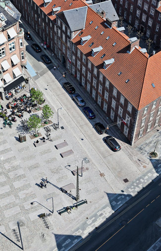 Vartov Square in Copenhagen, Denmark by Hall McKnight. Photo: Stamers Kontor.