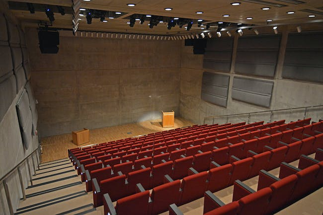 Yale Center for British Art, Lecture Hall following conservation, photograph by Michael Marsland.