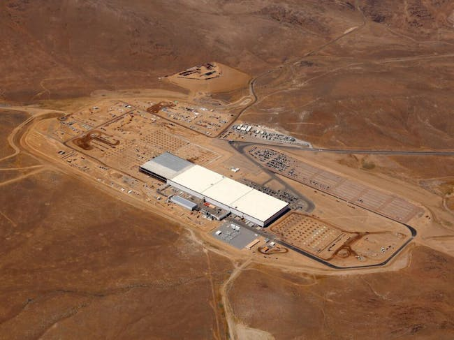 Aerial view of the Tesla factory. Image: Tesla.