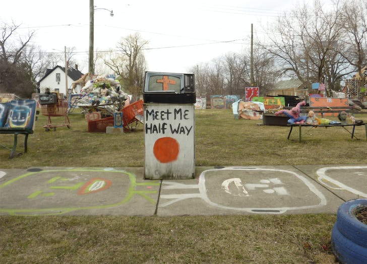 'Objets Trouvés (The Heidelberg Project),' (2015) by Cigdem Talu, part of the 'My Detroit Postcard Project' for 'the Architectural Imagination.'