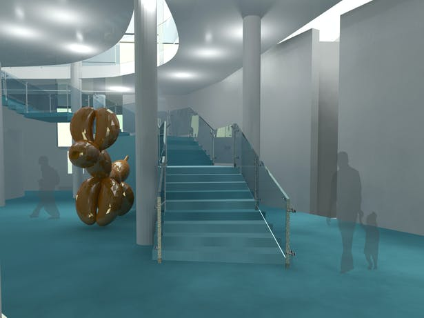 Spatial Study of Entry Staircase