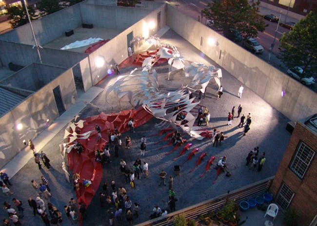 Xefirotarch's Sur, winning design of MoMA PS1's Young Architects Program. Image via moma.org.