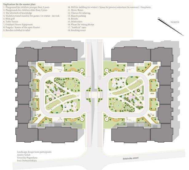 """Landscape Design Of Residential Complex """"Barcelona"""