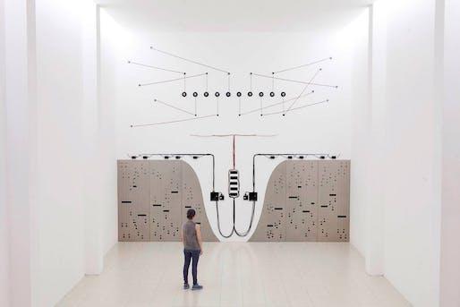 Naama Tsabar, 'Propagation (Opus 3)', 2015. Photo via Museum of Arts and Design/Facebook.
