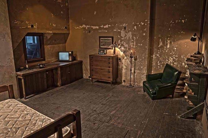 The 'Creepy Bedroom' set. Image courtesy Kink.com