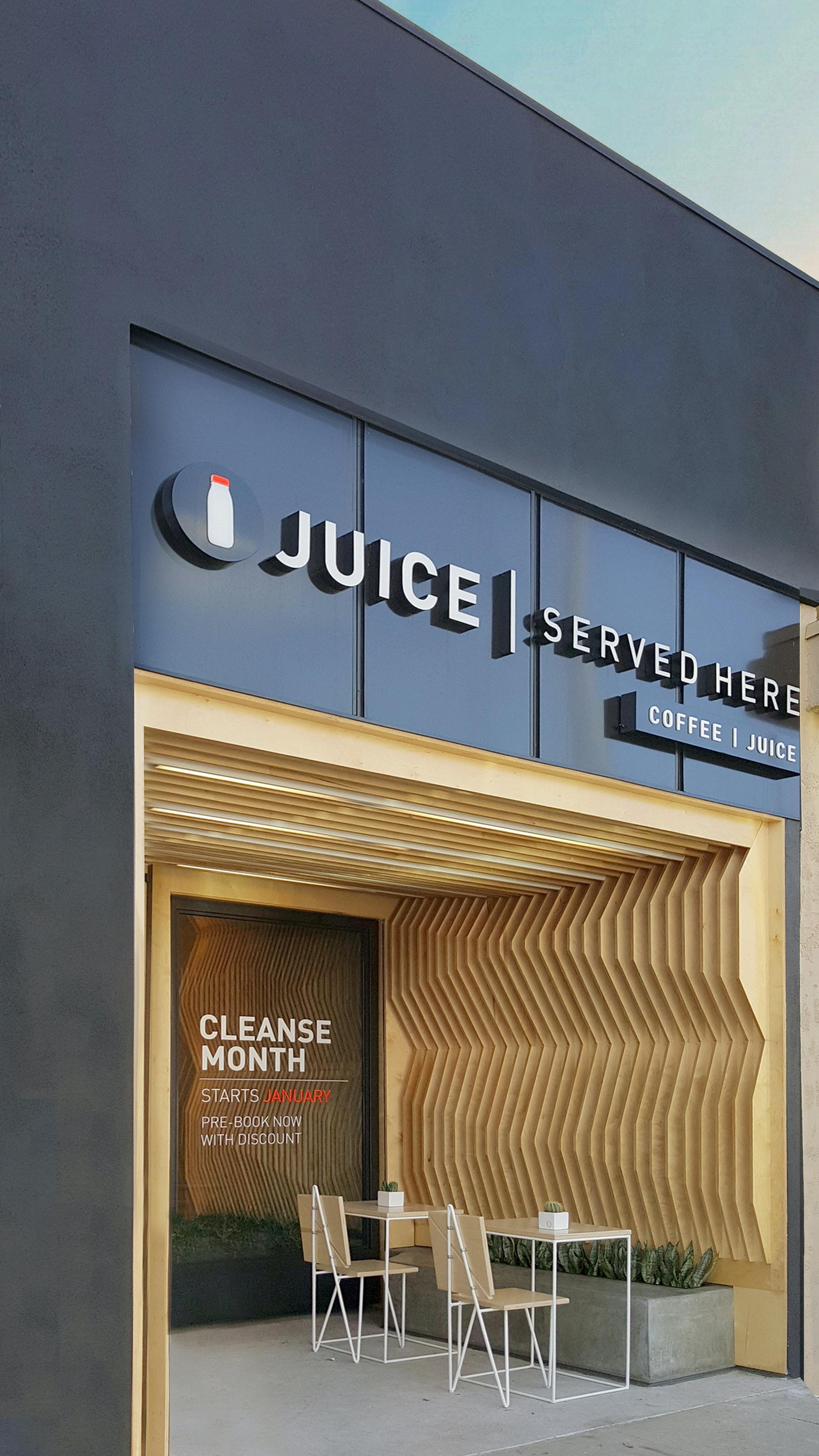 Juice Served Here - Studio City | A-Industrial Design/Build