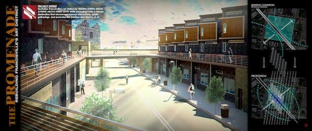 The Promenade - Rebuilding Francisville's Art District