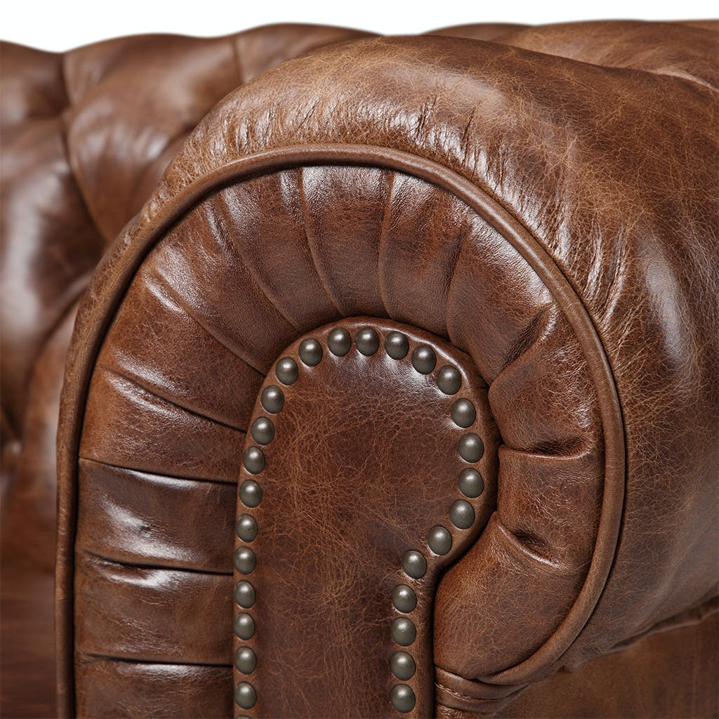 chesterfield sofa maple leather distressed dl vintage chair ga c kardiel