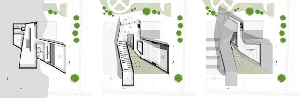 Basement; Ground Floor Plan; Roof Plan