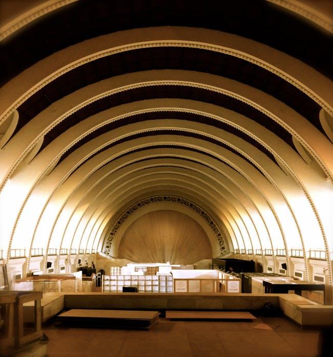 Interior of the Shanghai Exhibition Center. Photo courtesy of Andrei Zerebecky.