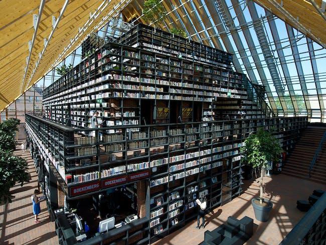 Book Mountain, Spijkenisse, The Netherlands by MVRDV (Photo: Jeroen Musch)