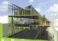 Fortified Infrastructure: Exploring Urban Agriculture through Underutilized Transit Surfaces (Architecture Thesis)