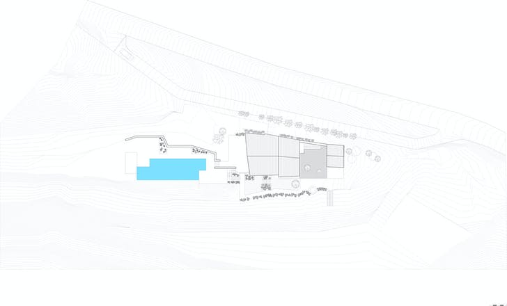 Site plan, courtesy of ZEST Architecture.