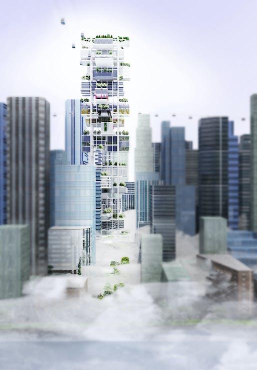 3rd Prize Winner: VERTICAL CITY by Carlo Alberto Guerriero