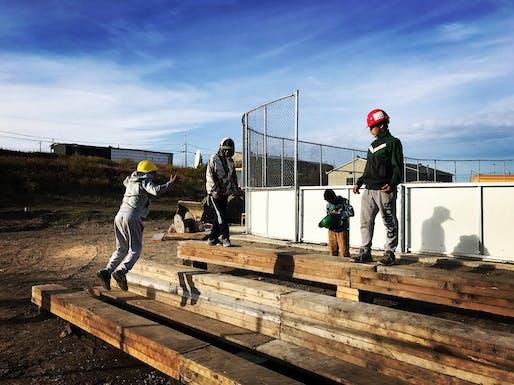 The Kuujjuaq Hackathon 2017: Reassembling the North Northern Village of Kuujjuaq, QC. Lead Organization: McGill University, Minimum Cost Housing/Hackathon Group. Photo: Marie-Pierre McDonald.