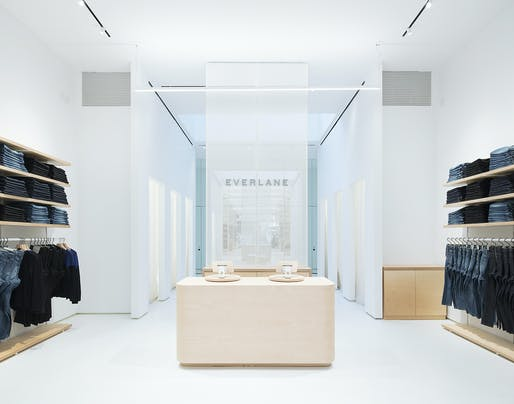 Everlane's first flagship store designed by Leong Leong in NYC. Photo: Naho Kubota.