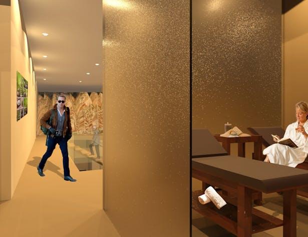 Hallway and Spa room
