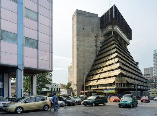 La Pyramide (1973) in Abidjan, Côte d'Ivoire, by Rinaldo Olivieri. Image: Iwan Baan.