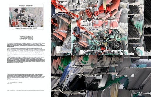 Serjeant Awards for Excellence in Drawing RIBA Part 2 winner: Thomas Parker (Bartlett School of Architecture, UCL) for 'An Architecture of Lumetric Causality'