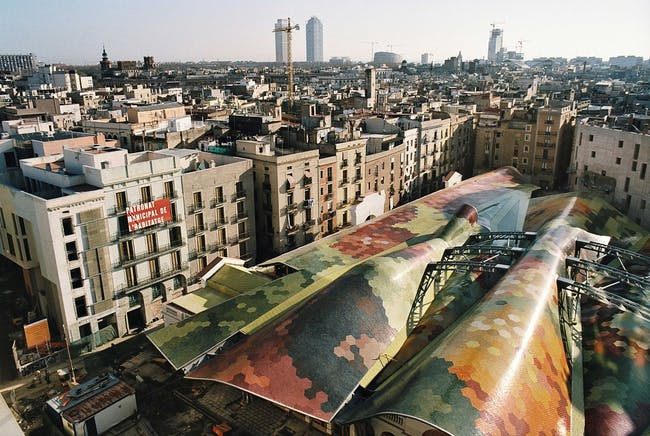 Santa Caterina Market in Barcelona, Spain by Miralles Tagliabue EMBT; Photo: Alex Gaultier