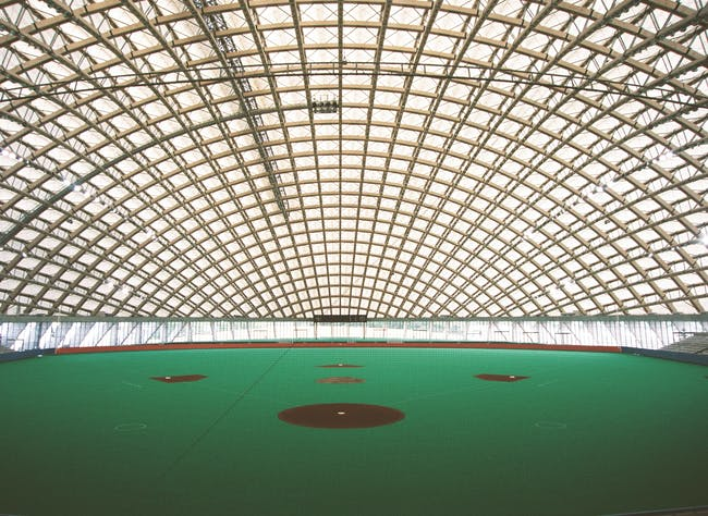 Dome in Odate (multipurpose dome), 1993—1997, Odate-shi, Akita, Japan Photo by Mikio Kamaya
