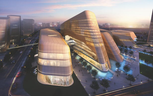 Mixed-use Development in Xihongmen, Da Xing District, China, designed by Andrew Bromberg of Aedas