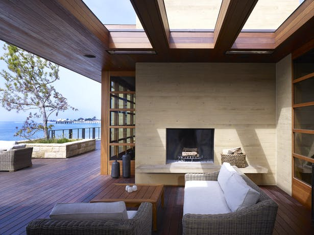 Open-air skylights over the deck lounge