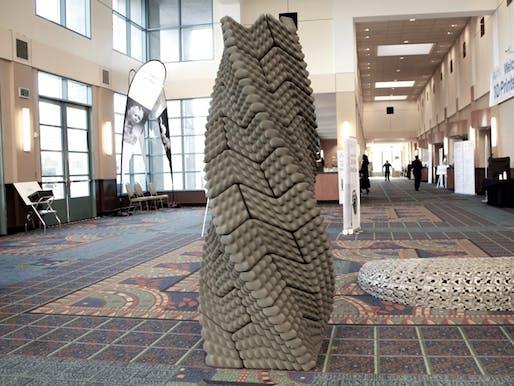 The Quake Column. Image via wired.com.