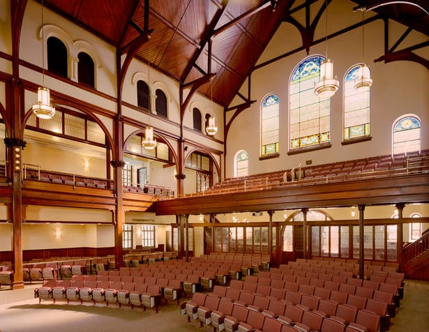 Expanded and restored main auditorium