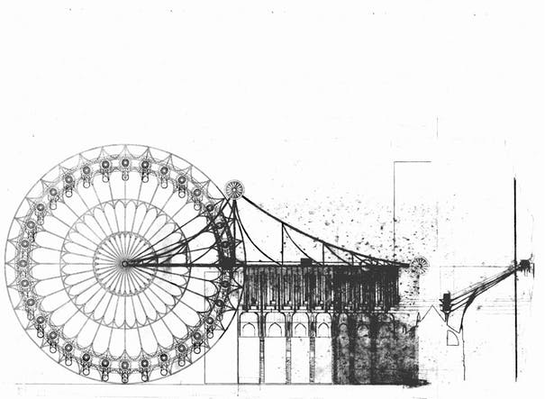 conceptual sketch of pod unloading mechanism