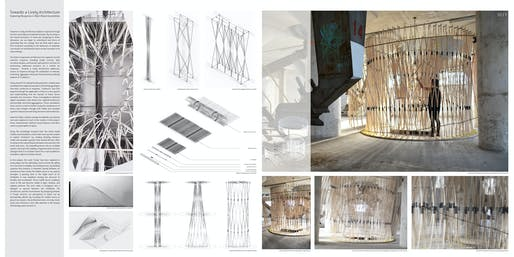 """3rd prize: """"Towards a Lively Architecture"""". Author: David Heaton (architectural designer) 