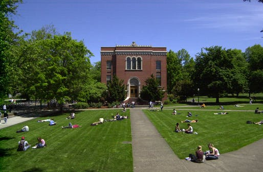 View of the University of Oregon campus. Image courtesy of Flickr user Erik Bishoff.