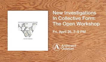 "Archinect Outpost to host book launch for ""New Investigations In Collective Form,"" the latest publication by Neeraj Bhatia"