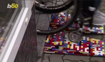 'Lego Grandma' constructs wheelchair ramps out of Lego