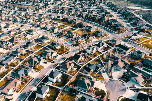 Suburban living is on the upswing again. Shown: Aerial photograph of Herriman, Utah, Image courtesy Michael Tuszynski.