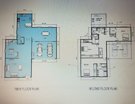 A Two Story Residental project Furniture Layout Plan