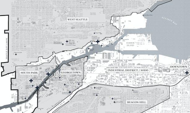 Duwamish Crossings: Neighborhood Site Map (Wittman Estes)
